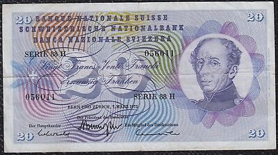 20 Francs from Switzerland 1973 G5