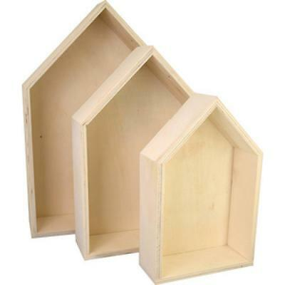 KREUL Holzbox ´Haus´, 3er Set (4000798115968) (45155)