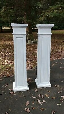Pair Large Antique Architectural Pedestal Columns