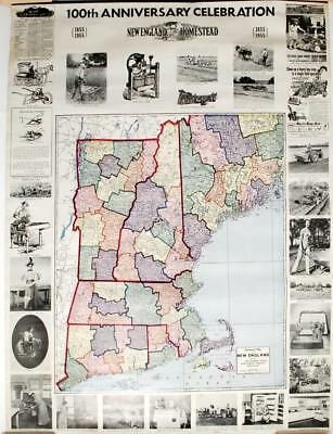 1955 Homestead 100th Anniversary Celebration Post-WWII Historical Map Collection