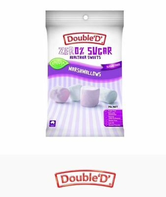 12 x 70g DOUBLE D HEALTHIER SWEETS Sugar Free Marshmallows ( total 840g )