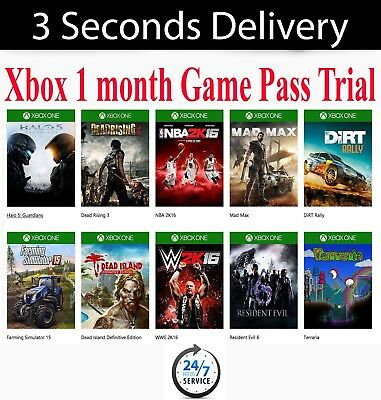 XBOX 1 MONTH GAME PASS SUBSCRIPTION TRIAL (INSTANT DELIVERY!) Xbox 1