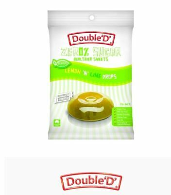12 x 70g DOUBLE D HEALTHIER SWEETS Sugar Free Lemon N Lime Drops ( total 840g )
