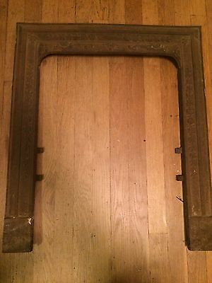Vintage Decorative Cast Iron Fireplace Door Frame Surround Insert