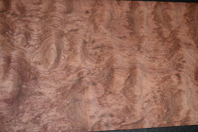 Bubinga Raw Wood Veneer Sheets 7 x 41.5 inches AKA African Rosewood c2143-26