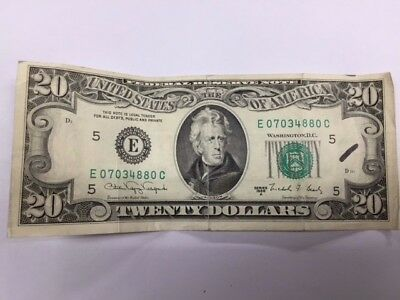 1988 A STAR OLD STYLE 20 DOLLAR Bill Federal Reserve Note Series Low Print #