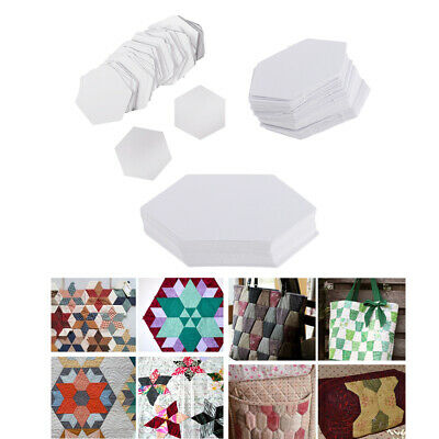 300pcs Hexagon Paper Quilting Templates Paper Piecing DIY Patchwork 3 Sizes