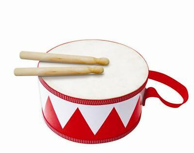 NEW Fun Factory Kids Wooden Drum w/ Two Drum Sticks