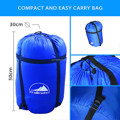220x160cm Double Outdoor Camping Sleeping Bag Hiking Thermal Tent Winter -10°C