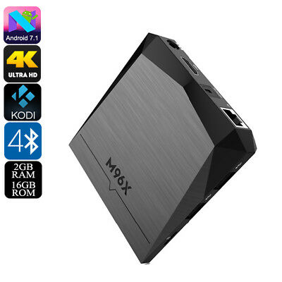 Android TV Box M96X - 4K, Android 7.1, WiFi, Miracast, Quad-Core CPU, 2GB RAM, G