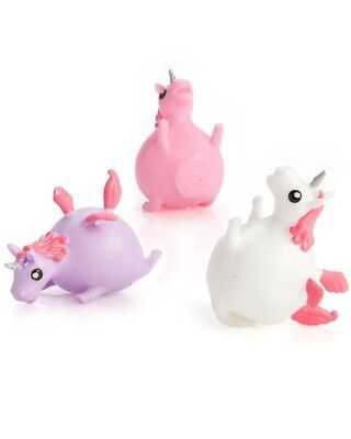 Unicorn Splat Ball Squish Slime Cool Novelty Pink Purple Pegasus Gift Fun Pony