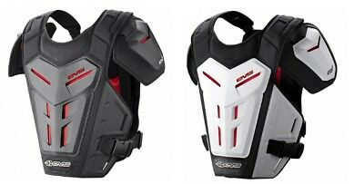 EVS Adult Youth MX ATV Revo 5 Chest Roost Guard Protector White/Black