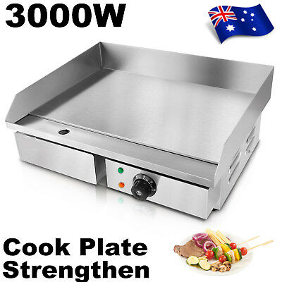 Electric Griddle Commercial Thermomate Grill Hot Plate Stainless Steel BBQ NEW