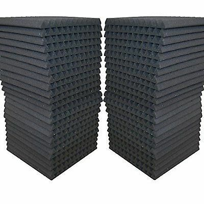 "48 Pack - Acoustic Panels Studio Soundproofing Foam Wedge tiles 1""x12""x12"""