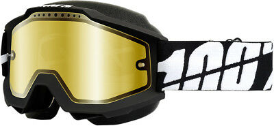 100% Accuri Snow Snowmobile Goggles Black/Mirror Gold