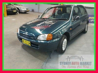 1998 Toyota Starlet Green Automatic A Hatchback
