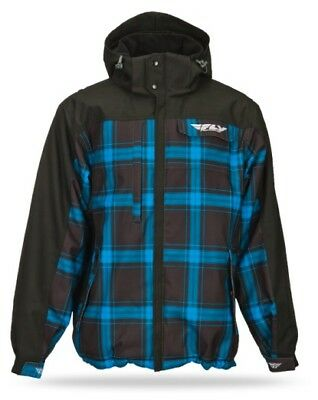 Fly Racing 2014 Adult Phantom Jacket Blue/Black Coat Size Small SM