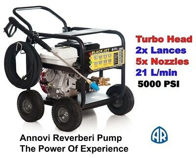 New Black Jet  High  Pressure Water Washer Cleaner  8 Hp  Self- Suction. Gurney.