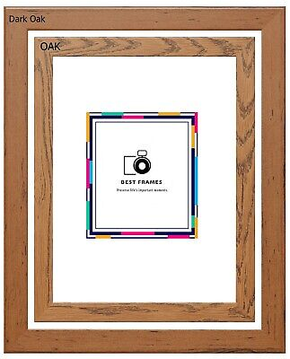 Dark Oak/ Oak Wood Effect Picture Poster Frames A1 A2 A3 A4 A5 Square All Sizes