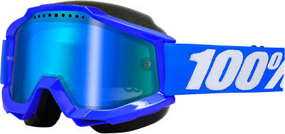 100% Accuri Snow Snowmobile Goggles Blue/Mirror Blue