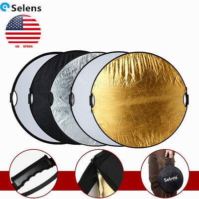 43'' Reflector 110cm Photography Studio light Multi Collapsible Photo 5-in-1 US
