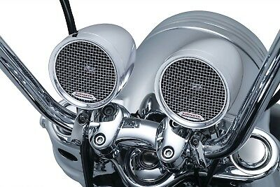 "Kuryakyn RoadThunder Speaker Pods by MTX Chrome 5 AMP for  7/8"" & 1"" Bars 2710"