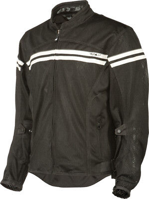 Fly Flux Air Mesh Jacket Black/Cream Adult XL