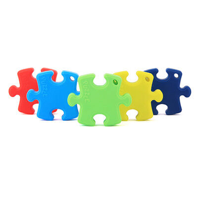 Child Puzzle Pendant Baby Teething Safe Food-Grade Silicone Teether Chew Toys