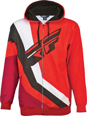 Fly Racing ADULT Retro Hoody Red LG