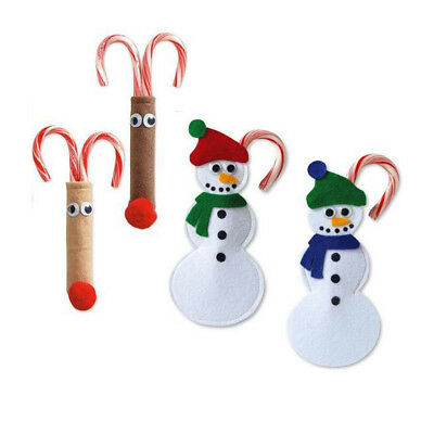 Christmas Candy Cane Cutlery Silverware Holders Bag Xmas Party Gift Favor Sack
