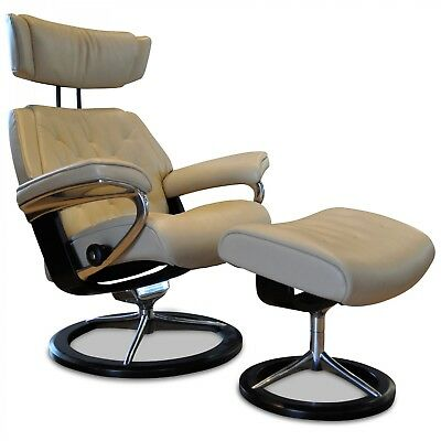 Stressless Designer Sessel Dream M Mit Hocker Stoff Holz Rot Natur