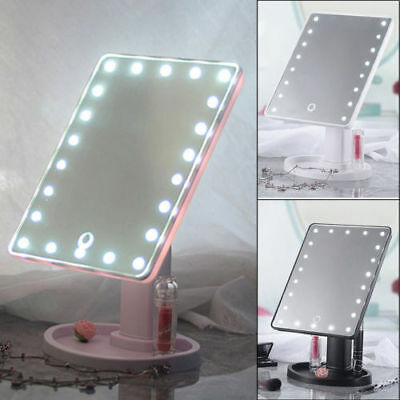 Touch Screen 22 LED Makeup Mirror Tabletop Cosmetic Vanity Mirror with light UK