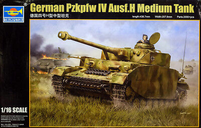 Pzkpfw IV Ausf. H Medium Tank Panzer 1:16 Model Kit Bausatz Trumpeter 00920