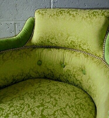 Antique Victorian Armchair Bedroom Salon Parlour New Upholstery