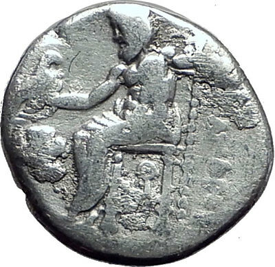 ALEXANDER III the GREAT 323BC Authentic Ancient Silver Greek Coin w Zeus i64826
