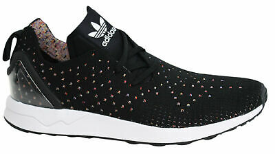 33faa88ad951 Adidas Originals ZX Flux Weave PK Mens Lace Up Black Trainers Shoes S76368  M8