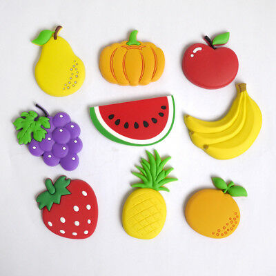 1Pc Random Fruit PVC Fridge Magnet Teaching Toys Magnetic Sticker