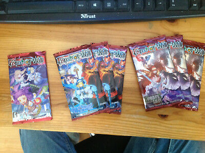 Force of Will Trading Card Game Booster Packs x 7 English