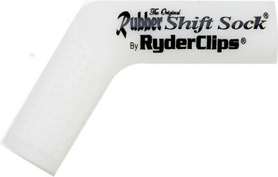 Ryder Clips Rubber Motorcycle Shift Sock Shifter Cover White