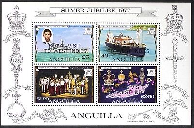AT034 ANGUILLA 1977 QEII Royal Visit to West Indies S/S Mint NH