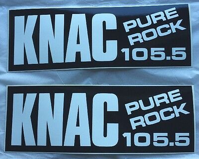 Brand New Pure Rock 105.5 KNAC Bumpersticker (2x)