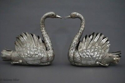 20th Century Portuguese Sterling Silver Swans by David Ferreira