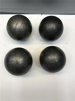 "Ornamental 3"" Diameter Architectural Decorative Hollow Steel Canon Ball 4pc Lot"