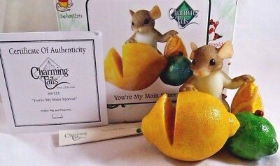 Charming Tails Figurine You're My Main Squeeze Lemon Lime NIB