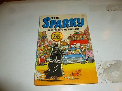 THE SPARKY BOOK Annual - Year 1974 - UK Comic Annual (Damaged Spine)