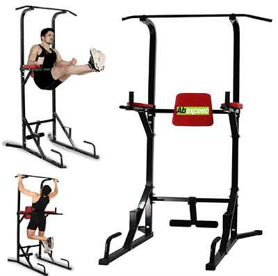 Home Gym Fitness Power Tower Dip Pull and Chin Up Bar Fitness Workout Exercise