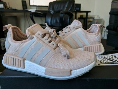 adidas nmd r1 runner w nomade donne è cenere, gesso bianco perla rosa 3m