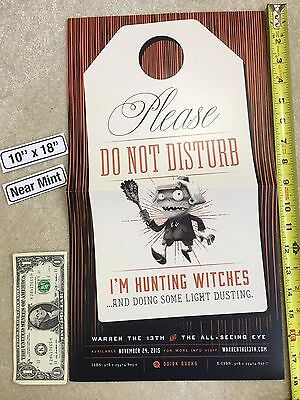 "Warren the 13th and the All-Seeing Eye 10"" x 18"" Poster Quirk Hunting Witches NM"