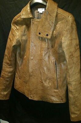 08863f39e9fd1 Amazing Helmut Lang Runway Textered Leather Motorcycle/Military Jacket Size  M