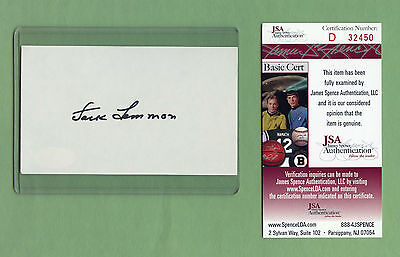 JACK LEMMON • Signed Index Card JSA COA Certified Authentic Auto Autographed
